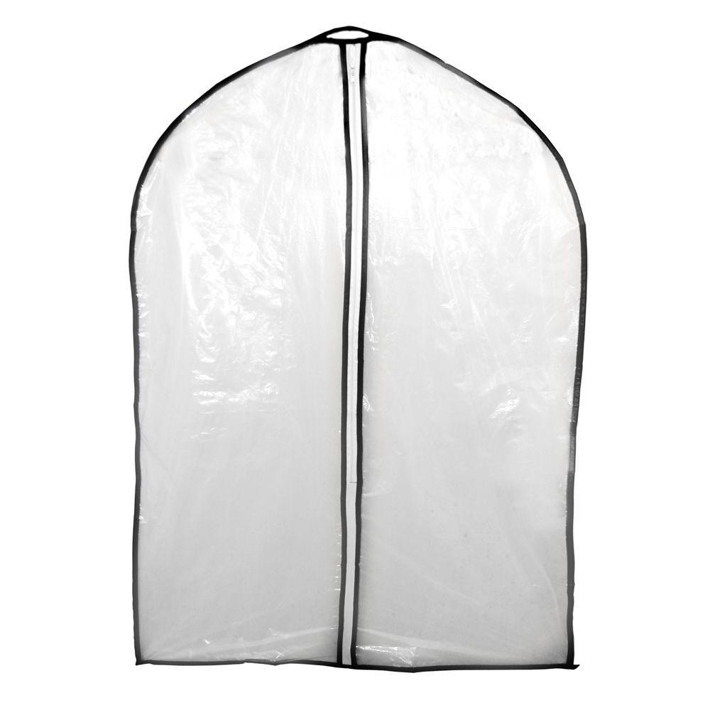 12 Capas de Plástico para Roupa proteção transporte cabide 60 x 90 Cm Ke Home 5553KH