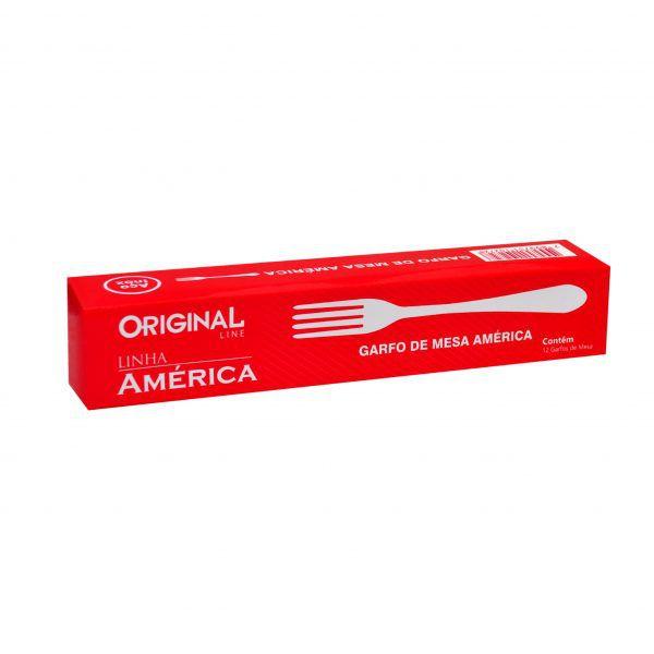 12 Garfos de Mesa Inox Linha America Bar Restaurante Bufffet Original Line Sl0201-12