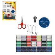 Kit Para Costura 94 Itens Agulhas Tesoura Linhas E Etc 6961