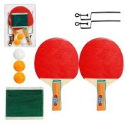 Kit Ping Pong 2 Raquetes 3 Bolas Suporte E Rede 0803