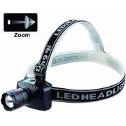Lanterna Tática Cabeça Led Cree Zoom 500w + 3 Pilhas Alcalina 3019