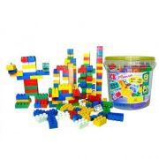 Balde Blocos De Montar Com 104 Peças Brinquedo Educativo 9330