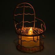 24 Lembrancinhas Mini Cadeirinha Aramado aniversários casamento Dourada 7317+vela