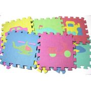 Tapete Eva Infantil 10 Placas De Formas Variadas 29x29 9303