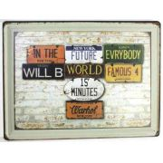 Placas Decorativas Em Metal Grande A3 Retro Vintage 30x40