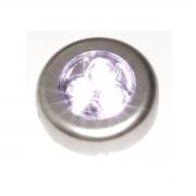 3020 50 Luminária De Toque 3 Leds Já Com Pilhas Armário Closet 3020