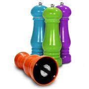 3 Moedores de Pimenta sal Em Plastico com Moinho em Ceramica Ke Home 5585-3