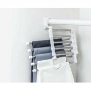 4 Cabide De Calça De Inox cabe 5 Peças Multi-função Clink CK5151-4