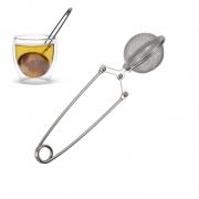 4 Infusor De Chá Em Aço Inox Com Haste Coador Filtro E Peneira TRC7540-4