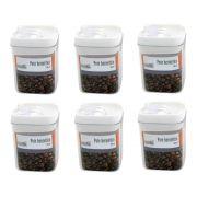 6 Potes hermético em poliestireno 300ml Casita HM014-6