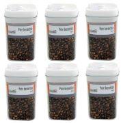 6 Potes hermético em poliestireno 450ml Casita HM015-6