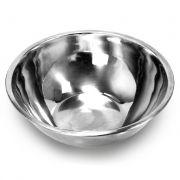 6 Saladeiras Bacia tigela em aço Inox 24cm Ke Home 3624KH-6