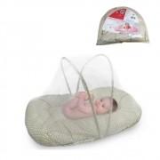 Berço Conforto Mosquiteiro Portátil Travesseiro E Colchão FUY431