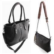 Bolsa Feminina kit com 2 bolsas Alça Transversal e De Mão HD9045