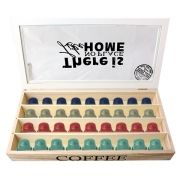 Caixas Para Capsula de Café Nespresso em madeira 90762