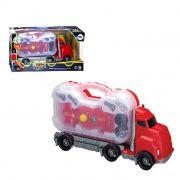 Caminhão Com Carro F1 Infantil 2 Ferramentas Monta Desmonta Intuitivo