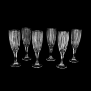 Jogo De 6 Taças de Cristal Para Champanhe e Outros 200ml Ravello UH090046-6