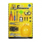 Kit Construtor Ferramenta Capacete E Acessórios 14 Peças TOYS-190038