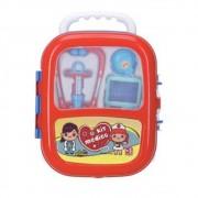 Kit Infantil Medico Criança Profissão Maleta com rodinha e Acessórios IN13437