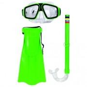 Kit Mergulho Infantil Mascara Snorkel Compl. Pe Ate 36 9036