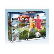Kit Para Futebol Infantil1 Bola E 2 Traves Chute A Gol Treino E Torneio