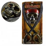 Kit Pirata Com 2 Espada+ Mascara Infantil 9095