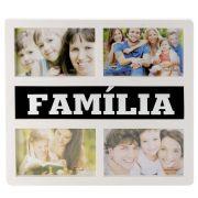 Painel Porta Retrato De Parede 4 Fotos 10x15 Tema Família DS-17126-F