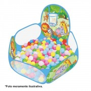 Piscina de Bolinhas Safari Infantil com cesta de basquete e 30 Bolinhas IN13444