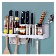 Suporte Organizador utensílios cozinha com ganchos  Amigold - AM-2763