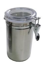 1 Pote Hermético Inox Trava Tampa Acrilico 1000ml 6490