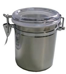 1 Pote Hermético Inox Trava Tampa Acrilico 750ml 6490