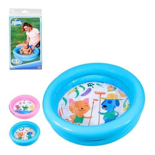 Piscina Inflável Infantil 21 Litros Redonda Bebê 2 Cor 9020