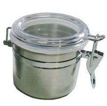 Conjunto 3 Pote Hermético Inox Trava Tampa Acrilico 6490 1-2