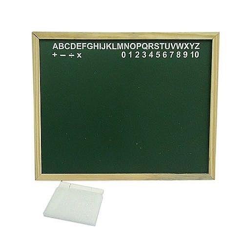 Lousa Quadro Verde Escolar Moldura Em Madeira 45x35cm . 9130