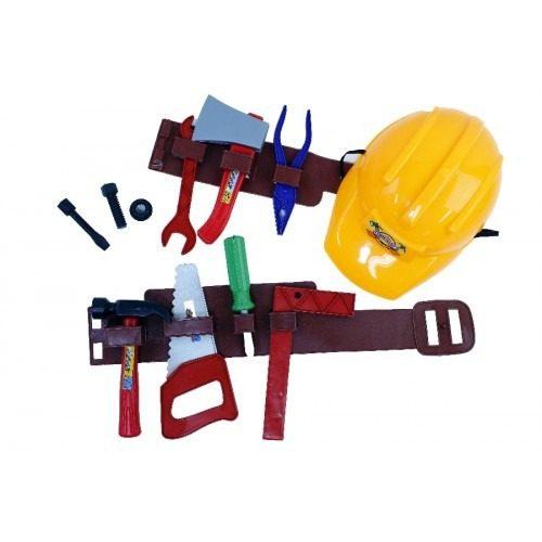 Kit Construtor Ferramenta Capacete E Acessorios 12 Peças 9079
