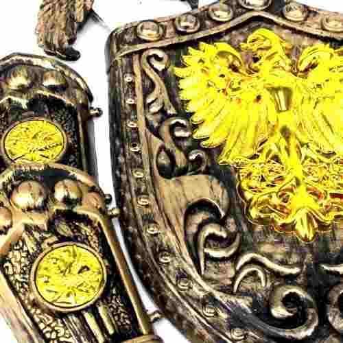 Kit Escudo Espadas Gladiador Fantasia Medieval 4 Peças 9081