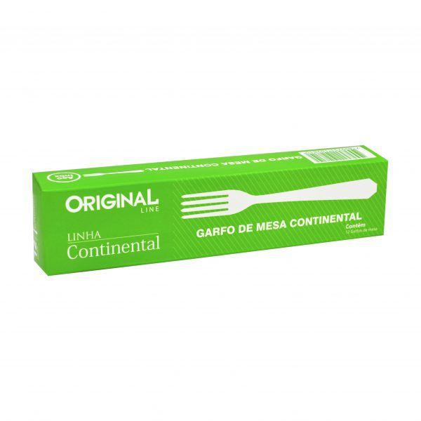 24 Garfos de Mesa Inox Linha Continental Bar Restaurante Bufffet Original Line Sl0301-24