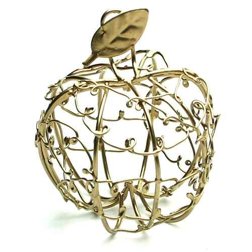 Mini Maça Lembrancinha Aramado Dourada - 7316