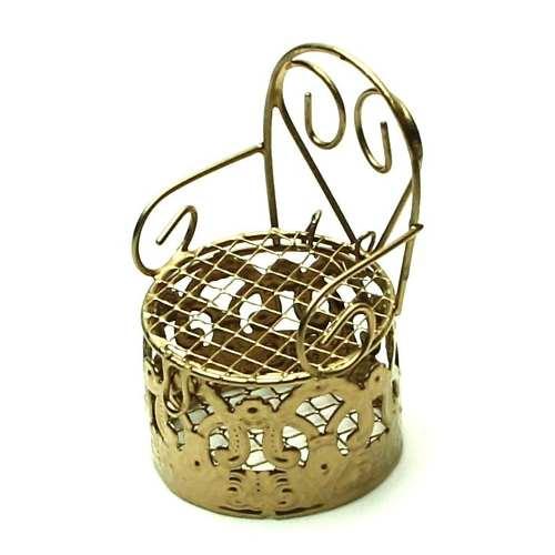 Lembrancinha Mini Cadeirinha Aramado Dourada 7318