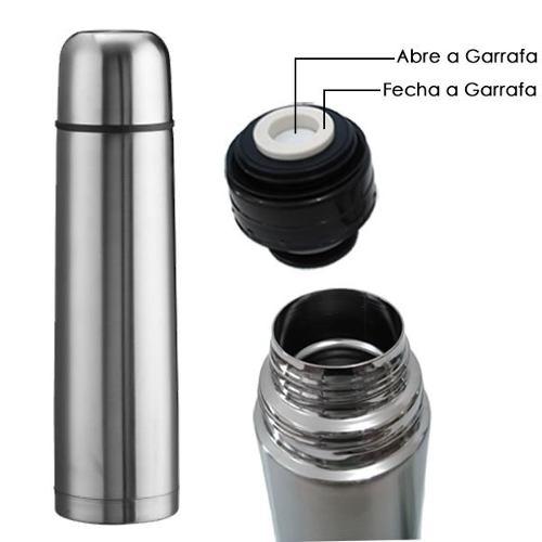Garrafa Térmica Inox 350ml Inquebrável Chá Café Outros 6410