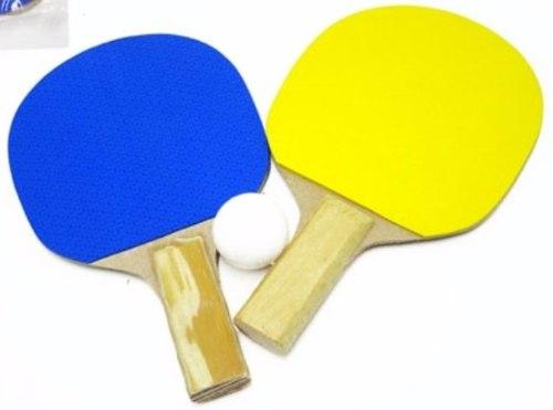 Kit Ping Pong 2 Raquetes 1 Bola Cores Variadas  0804