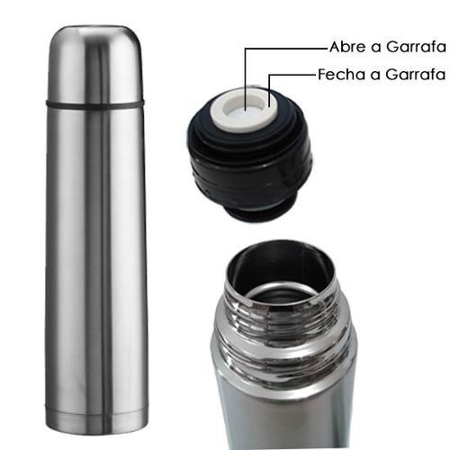 Garrafa Térmica Inox 1 Litro Inquebrável Café, Chá E Outros 6413