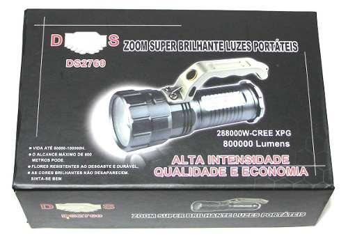 Lanterna Holofote 288000w/800000 Lúmens Recarreg. 2 Baterias