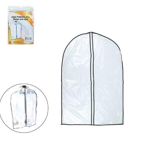 Kit Com 10 Capas Para Roupa Protetora Com Zíper 60x90 6569