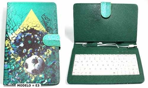 Capa Com Teclado Usb Tablet 7 Polegadas Estampada Diversas