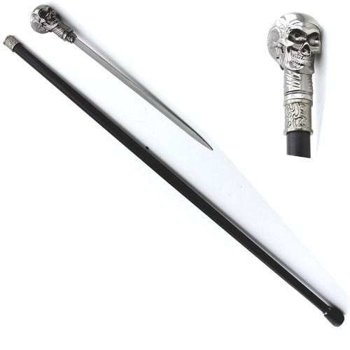 Bengala Com Espada Da Caveira Cranio 92cm 0104