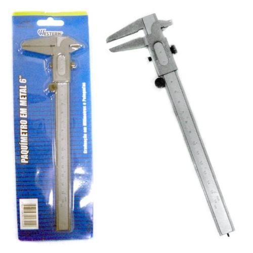Paquímetro Em Metal Aço 6¨150mm Cm Polegadas 4301