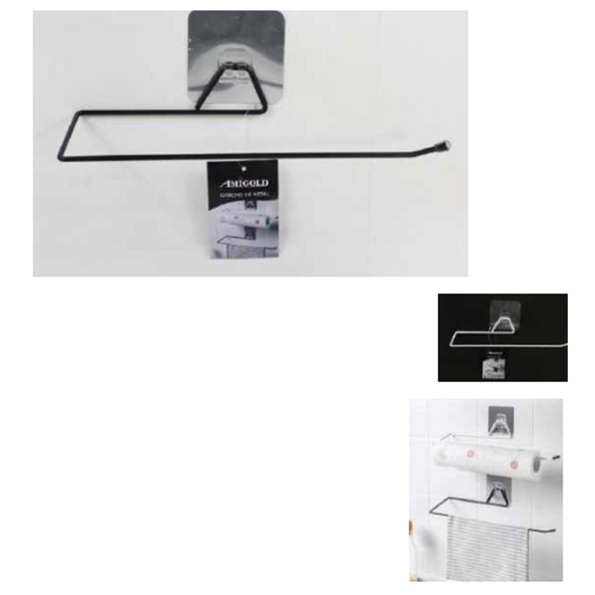 2 Suportes Papel Toalha Multiuso cozinha banheiro Adesivo AM-2709-2