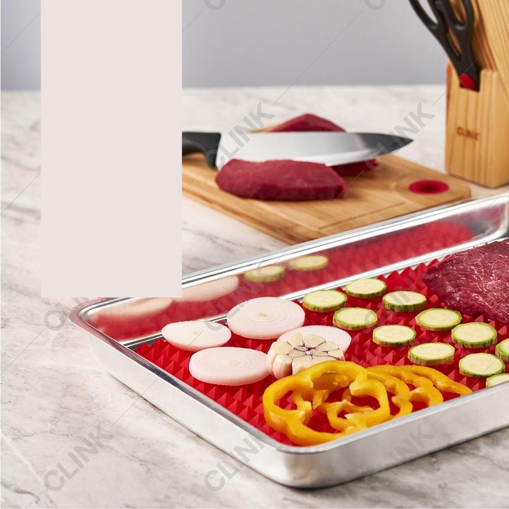 2 Tapetes De Silicone Culinário Para Forno Micro-ondas Lava-louça 39x26cm AM-2374-2