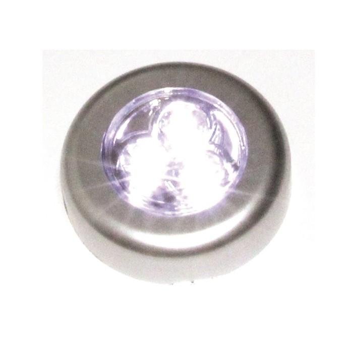 3020 10 Luminária De Toque 3 Leds Já Com Pilhas Armário Closet 3020